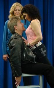 "Susan Kane (Micaela), Christopher Campbell (Don Jose), and Geeta Novotny (Carmen) in Intimate Opera Company's ""La Tragedie de Carmen""/photo by Pascual Cervantes"