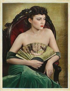 """""""Girl With Fan"""" by Paul Outerbridge"""