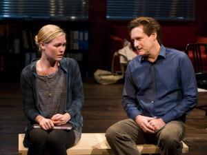 "Julia Stiles and Bill Pullman in ""Oleanna"" at the Mark Taper Forum/photo by Craig Schwartz"