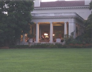 The Huntington Art Gallery loggia where Southwest Chamber Music holds its Summer Festival