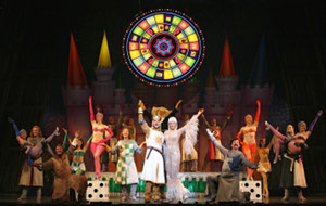 """""""Spamalot"""" at the Ahmanson Theatre/photo by Joan Marcus"""