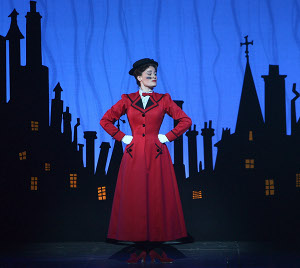 Ashley Brown plays Mary Poppins at the Ahmanson Theatre through Feb. 7, 2010 / Photo by Joan Marcus