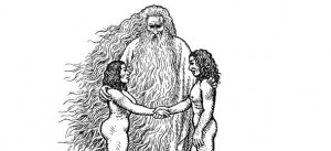 """Image from the title page of """"The Book of Genesis Illustrated by R. Crumb."""""""