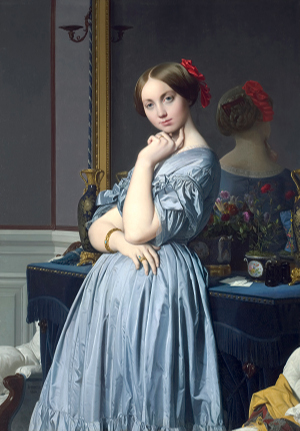 """Ingres' """"Comtesse d'Haussonville"""" is on view at the Norton Simon Museum."""