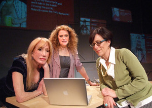 "Diane Cary, Sharon Sharth and Jane Kaczmarek in ""The Snake Can"" at the Odyssey Theatre. / Photo by Ed Krieger"