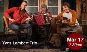 The Yves Lambert Trio comes to Theatre Raymond Kabbaz on St. Patrick's Day. / Photo courtesy of TRK