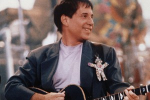 Paul Simon at the Concert in Central Park, 1991. Photograph by Nick Elgar. Courtesy of Paul Simon Archive.