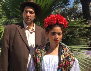 "Bernardo Bermudez (Diego Rivera) and Laura Virella (Frida Kahlo) in ""Frida"" at Long Beach Opera / Photo courtesy of LBO"