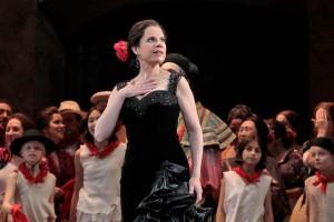 "Ana María Martínez in the title role of LA Opera's 2017 production of ""Carmen."" / Photo by Ken Howard / LA Opera"