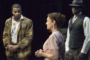 "Jon Chaffin, Gigi Bermingham and Noel Arthur in Antaeus' production of ""Native Son"" in Glendale / Photo by Geoffrey Wade Photography"