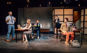 "Steven Strobel, Alana Dietze, Devere Rogers, Jenny Soo and Michael Sturgis in ""Gloria"" / Photo by Darrett Sanders"