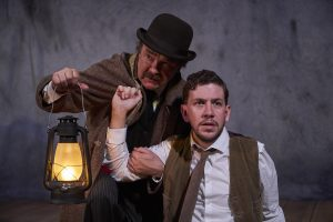 Bradley Armacost and Adam Wesley Brown in Susan Hill's The Woman in Black / Photo by Roger Mastroianni